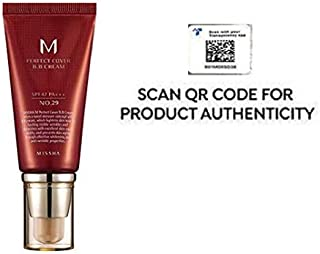 Missha M Perfect Cover BB Cream SPF 42 PA+++, Amazon Code Verified for Authenticity, 50ml, Concealing Blemishes, dark circles, UV Protection (#29 Caramel Beige)