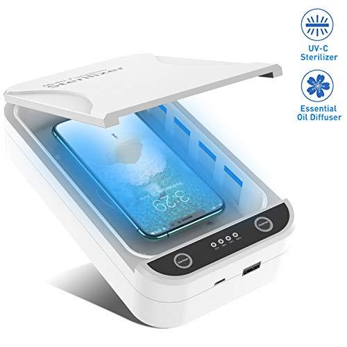 Portable UV Lumi/ères T/él/éphone Masque D/ésinfectant St/érilisateur Nettoyant pour Tous T/él/éphone Android Brosse /À Dents CBPE Smart Phone Sanitizer