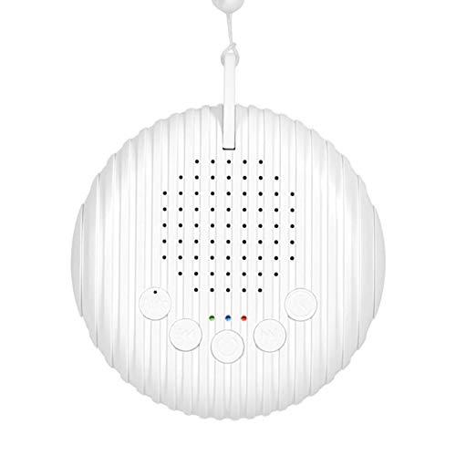 flouris Máquina de ruido blanco Máquina de sonido para dormir y relajación, 10 máquinas de sueño de alta fidelidad, bandas sonoras para bebé, adultos, oficina, viajes, energía por USB