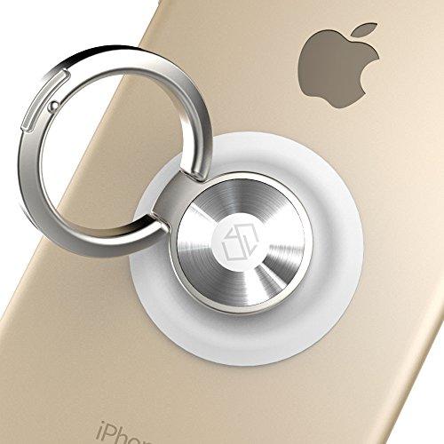 Sinjimoru Handy Ring Halter Handyhalterung Handy Stander Handy Halterung Finger Magnet Handyhalter Auto fur alle iPhone und Android Smartphone Ringo Weis