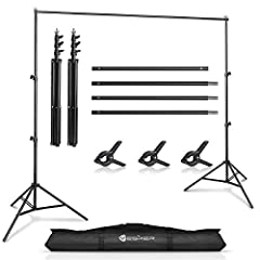 【Backdrop Stand Kit】: Professional lightweight and portable photography background stand backdrop, suitable for family gatherings, video shooting, weddings, as well as for professional photography or parties 【2 x Support Stand】: Heavy Duty stand, adj...