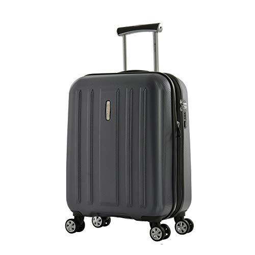 Eminent Bagaglio a mano Kapstadt V EXP 55 cm 45/54 L valigia cabina Rigida Espandibile Leggera 4 doppie Ruote silenziose Grigio