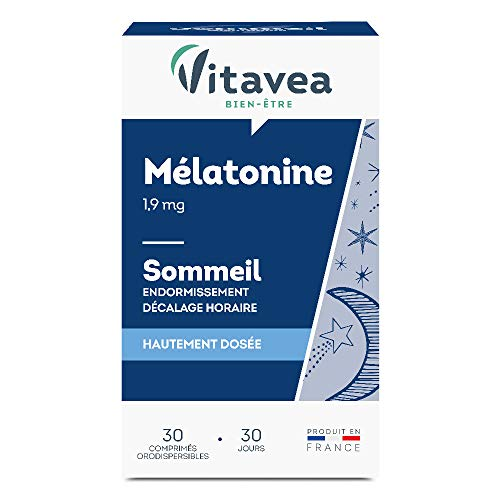 Vitavea Mélatonine - comprimé orodispersible - endormissement sommeil - décalage horaire - 1,9 mg - 30 comprimés - fabriqué en France