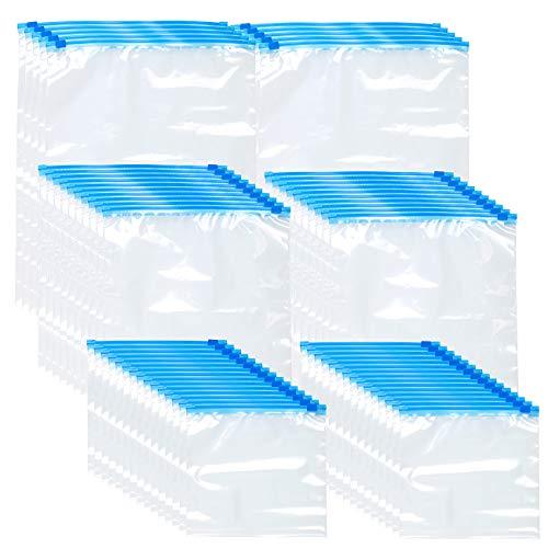 Rosenstein & Söhne Verschlussbeutel: 60 Zip-Verschluss Gefrier-Beutel, 1/3/6 Liter, 68 µm (Gefrierbeutel wiederverschließbar)