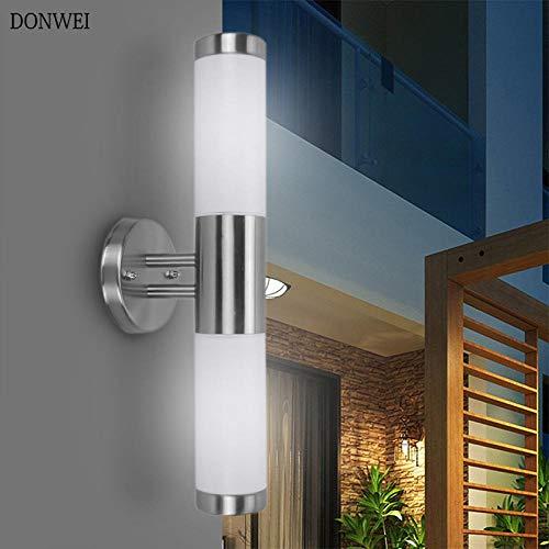 DONWEI waterdichte buitenverlichting roestvrij staal E27 Up Down Dual-Head LED wandlamp IP65 wandlamp veranda verlichting AC 220V