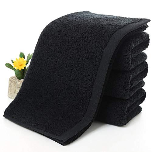 WLQCPD Handdoek,Zwarte Grote Badhanddoek Katoen Dikke Douche Gezicht Handdoeken Home Badkamer Hotel Volwassenen Handdoek, 70x140cm 600g