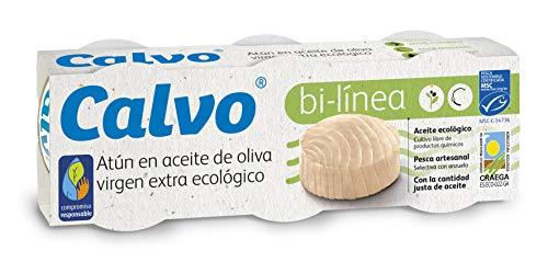 Calvo Atún Aceite de Oliva Virgen Extra Ecológico - 5 Paqu