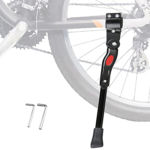 Pata de Cabra para Bicicleta con Llave Hexagonal, Aluminio Soporte Ajustable del Retroceso de Bici Caballete Bicicleta, para 26'' - 29'' Montaña Bicicleta Carretera Bicicleta