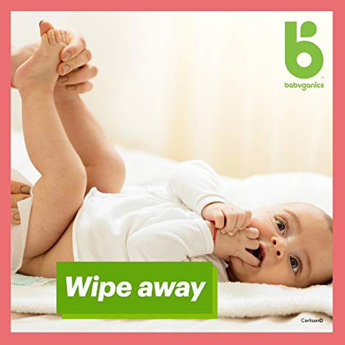 Babyganics Baby Wipes, Unscented, 400 Count, (5 Packs of 80)