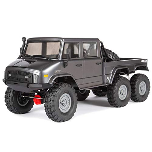 Axial SCX10 II UMG10 6x6 RC Rock Crawler RTR with 2.4Ghz Radio System (Battery and Charger Not Included): 1/10 Scale, AXI03002,Charcoal Metallic