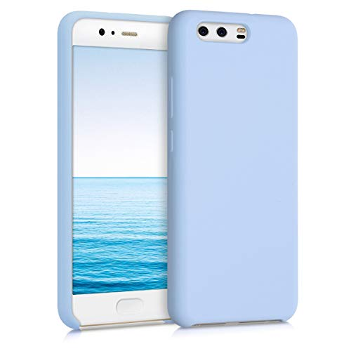 kwmobile Funda Compatible con Huawei P10 - Carcasa de TPU para móvil - Cover Trasero en Azul Claro Mate