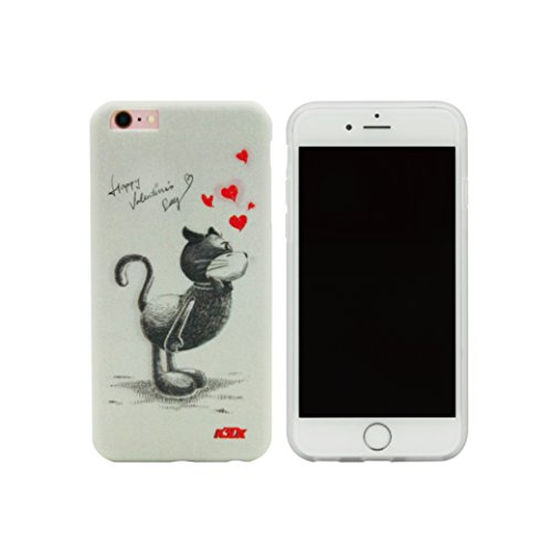 Funda para iPhone 6S Plus de Sweethearts, K3DX [Valentine Series] Premium absorción de golpes resistente a los arañazos suave Bumper Protective Case Cover [Morph Image Back Effect] para iPhone 6S Plus