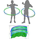 4 Pack Kids Hula Toys Rings,Adjustable Weight & Size Plastic Hoop Rings Detachable Sports Toys Suitable for Fitness,Gymnastics,Dance and Pet Training
