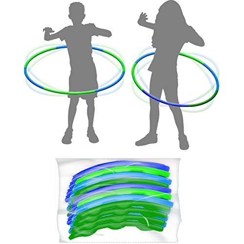 4 Pack Kids Hula Toys RingsAdjustable Weight amp Size Plastic Hoop Rings Detachable Sports Toys Suitable for FitnessGymnasticsDance and Pet Training