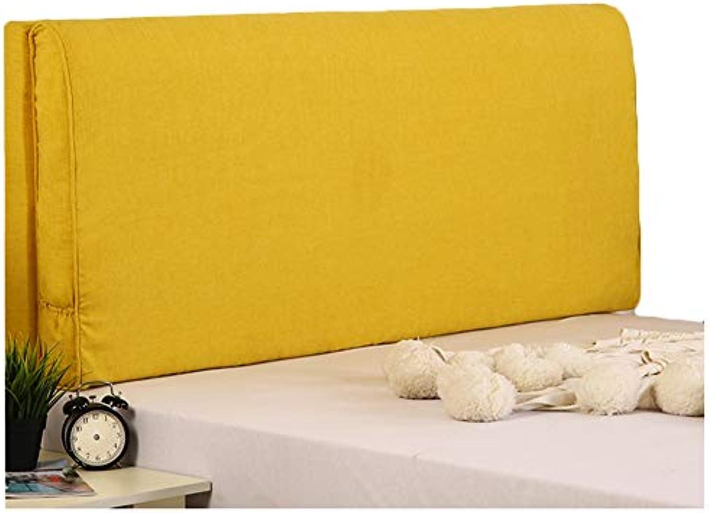 WENZHE Kopfteil Kissen Für Betten Bett Rückenkissen Rückenlehne Bettrückwand Waschbar Weicher Fall Zuhause Schwamm Rückenlehne, Mit Ohne Kopfteil 3 Farben (Farbe   A-Gelb, gre   180cm)