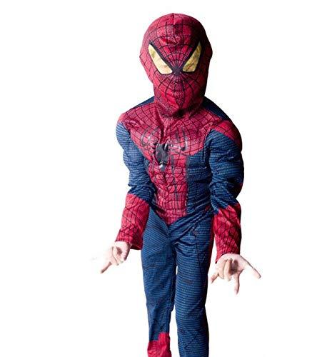Halloween Hero Deluxe-kostuums voor kinderen action kostuums en accessoires Cosplay kostuumparty S(110-120cm) spiderman