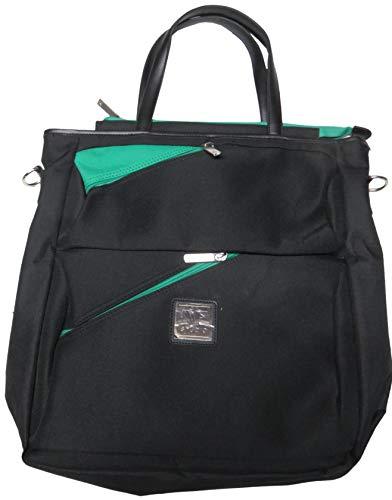 Diane Von Furstenberg Luggage Seventeen Again Tote, Black/Green, One Size