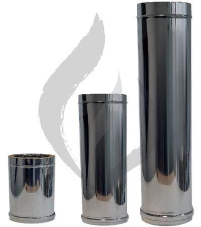 TUBO INOXIDABLE DOBLE PARED EXOJO PARA ESTUFA 1 METRO DE LONGITUD (130 Milímetros Diámetro)