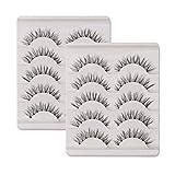 10 Paar Falsche Wimpern Natürlich Lange 3D 100% Handgefertigte Künstliche Wimpern Verlängerung Schwarz