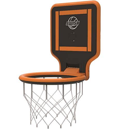 Swish ポータブル バスケットゴール リング 持ち運びできる 子供から大人まで対応 様々な場所に取付け可能 公園 自宅 屋外 室内 組み立て不要 プレゼント (オレンジ)