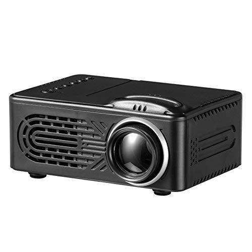 Mini Projector, USB HDMI TV Home Theatre-Systeem Met Spreker, Draagbare 1080P HD Video Projector Met Infrarood Afstandsbediening, LED Movie Projector Voor Media Player,Black