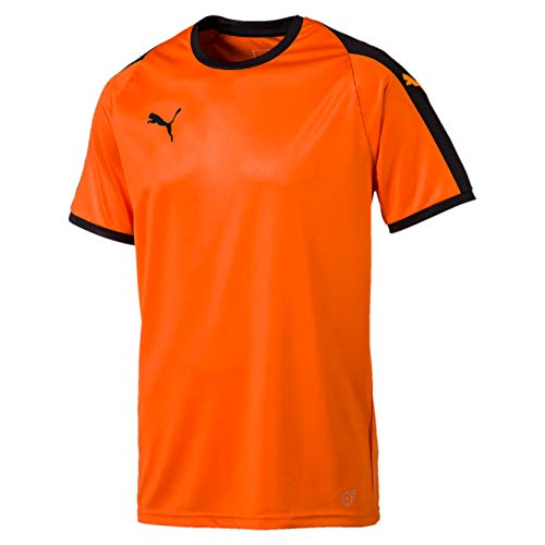 Puma Herren Liga Jersey T-Shirt, GOLDEN Poppy Black, L