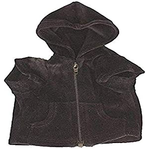 The Dog Squad Velour Zip Front Pet Hoodie, Small, Black (D261)