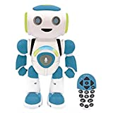 Lexibook Jr. Robot intelligent qui lit dans les pensées-Jouet pour garçons et filles-Powerman Junior danse joue de la musique quiz animaux karaoké programmable STEM Bleu/vert, ROB20FR