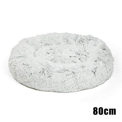 Guajave Shag Hundebett aus Kunstfell, Donut-Design, warm, Plüsch, 80 cm