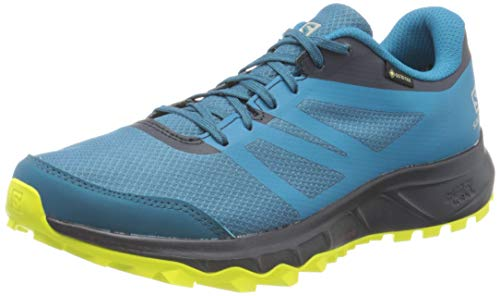 Salomon Trailster 2 GTX, Zapatillas de Trail Running Hombre, Azul (Lyons Blue/Navy Blazer/Evening Primrose), 42 EU