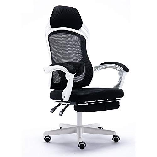 Computer Home mesh leren rotatie lunchpauze ligstoel BüRo comfortabele speelstoel anker stoel wit