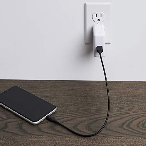 Amazon Basics – Verbindungskabel Lightning auf USB-A, fortschrittliche Kollektion, MFi-zertifiziertes Ladekabel für iPhone, schwarz, 30,4 cm