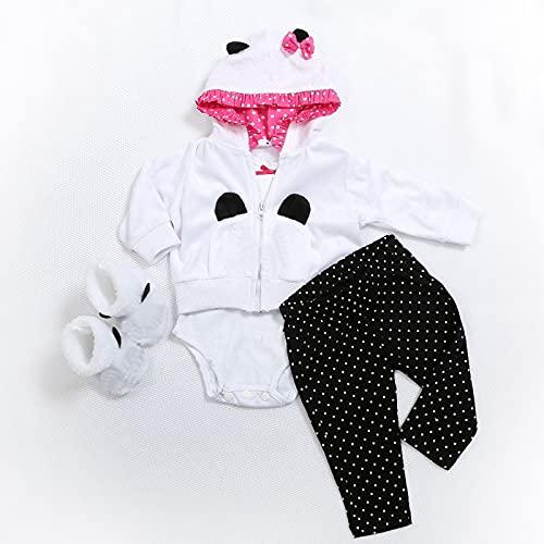MineeQu 5 Deux Tailles 47 ou 60 CM Haute Qualité Nouveau-Né Poupées Robe Reborn Bébé Poupée Tous Les Vêtements en Coton