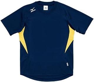 MIZUNO(ミズノ) ゲームシャツ (ドッジボール)その他スポーツ ドッジボール (A62HY144) 14ネイビー×イエロー