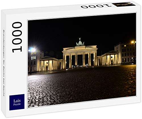 Lais Puzzle Puerta de Brandenburgo Berlín de Noche 1000 Piezas