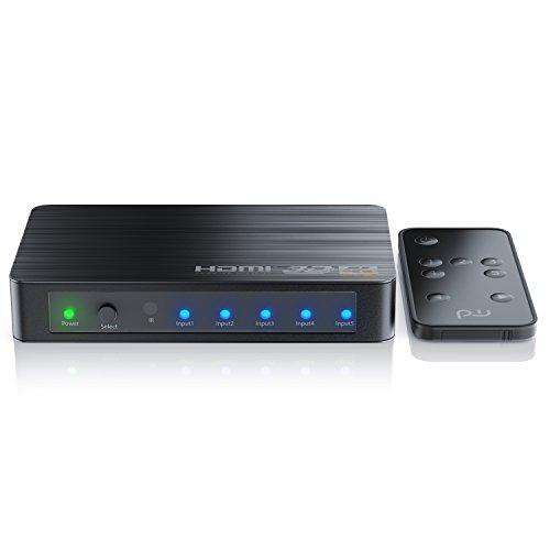 Primewire - Switch HDMI a 5 porte UHD con telecomando - commutatore HDMI - 5x IN e 1x OUT - UHD 4k - spia LED - HDR - 3D ready - HDCP - 48 Bit Deep Color - Auto Switch - Contatti dorati - Dolby TrueHD
