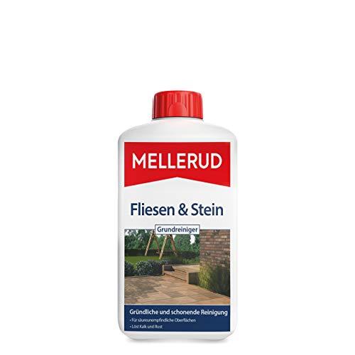 Mellerud Fliesen und Stein Gr&reiniger – Zuverlässiges Mittel zum Entfernen von hartnäckigen Verschmutzungen auf säureunemfpindlichen Oberflächen – 1 x 1 l