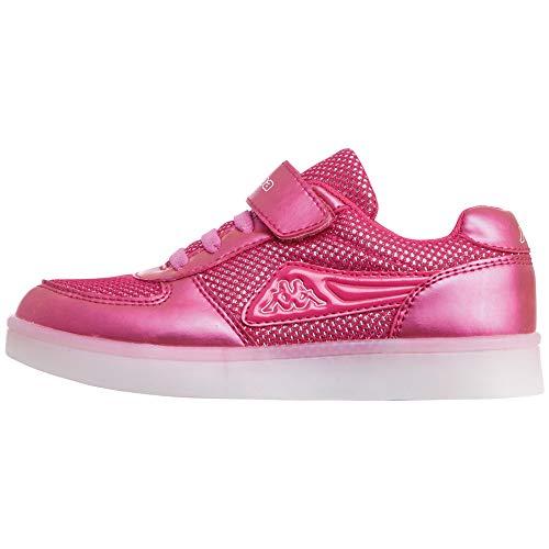 Kappa Fora Kids, Zapatillas Niños, Rosa (Pink/Silver 2215), 30 EU