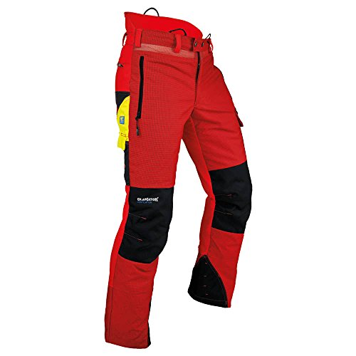 Pfanner 101761/XL Schnittschutzhose Ventilation Größe XL in rot/schwarz