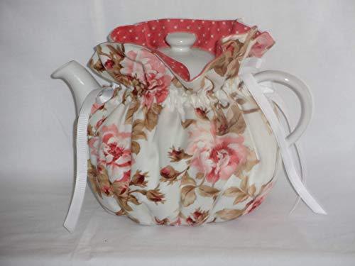 Pretty Pink Climbing Roses 6 Cup Reversible Tea Pot Cozy