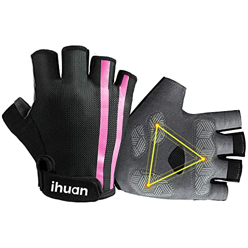ihuan Fashion Workout Gloves for Men Women Weightlifting, Exercise, Training, Fitness, Weighted, Weight Lifting, Pull ups, Gym Working Out, Rowing, Grip Pads Glove
