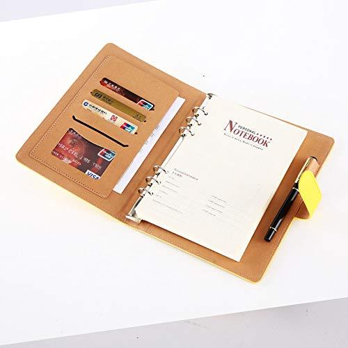 Supertool - Cuaderno de cuero sintética suave, tamaño A5,...