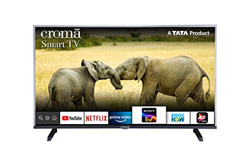 Croma 100.3 cm (39.5 Inches) Full HD Smart Android Based LED TV (CREL7362N, Black) (2020 Model)