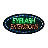 LED Eyelash Sign for Business, Super Bright Eyelash Extension Sign Electric Advertising Display Sign for Beauty Salon Spa Business Shop Store Decor (Eyelash Extensions)
