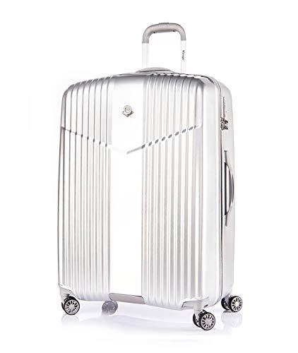 Verage V-LITE Ultraleicht Hartschalenkoffer Ab 1,9kg 4 Doppelrollen TSA Schloss, Reisekoffer M-65cm 66L ABS/PC Trolley, Silber
