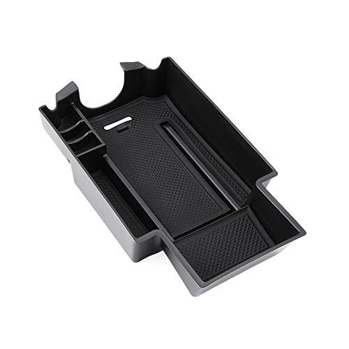 Leaftree Caja de almacenamiento de reposabrazos duradera para consola central de coche con 1 unidad ABS para Mercedes Benz CLA GLA W176 A Class A180 W246/B Class B180 2011-14