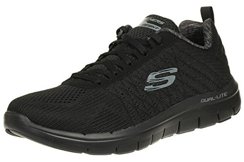 Skechers Flex Advantage 2.0, Men Outdoor Multisport Shoes, Black (Black), 44 EU (9.5 UK)