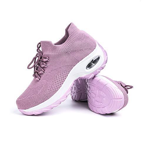 Zapatillas Deportivas de Mujer Zapatos Running Fitness Gym Outdoor Sneaker Casual Mesh...