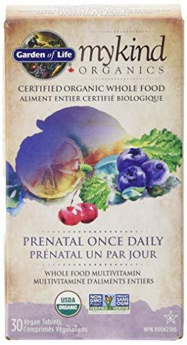 Garden of Life mykind Organics Prenatal Once Daily - 30 Vegan Tablets