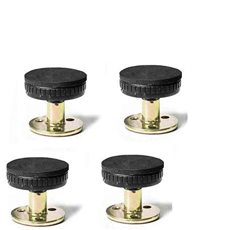 Verstellbarer Bettrahmen Anti-Shake-Fixierer,4 Stück Kopfteil-Stopper mit Verstellbarem Gewinde, Anti-Shake-Gewinde Bettrahmen Werkzeug Teleskop-Stütze für Bett Schrank Stuhl Sofa Kühlschrank